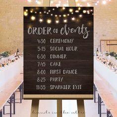 Signos grande imprimible de la boda ideas boda por HandsInTheAttic Más