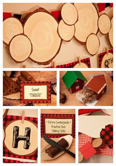 LUMBERJACK Collection  Printable Party Décor