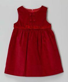 Red Velveteen Jumper - Infant & Toddler
