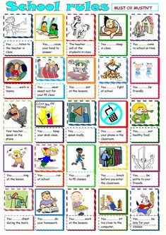Must and Mustn't worksheet - Free ESL printable worksheets made by teachers