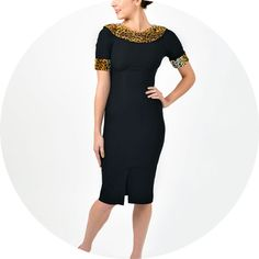 The Blondi Dress. An all time Stop Staring best seller. Here it is in black with pencil skirt and Leopard trim. One of many Stop Staring Dresses in stock AW12 at Revival Retro. BLONDI-03 Black £199  I want this one too ;)