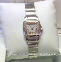 Cartier Santos Galbee 2 tone Ladies Watches W20012C4