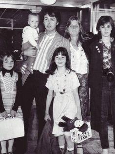 The McCartneys: Stella, James, Paul, Mary Ann, Linda & Heather
