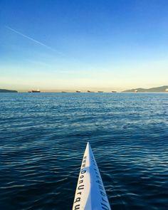 Solo Outrigger Canoe :: Vancouver English Bay :: Don Urquhart