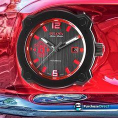 Bulova Swiss-Made Automatic Accu-Swiss Percheron    #watches #mensfashion #menswatches #womenswatches #womensfashion #fashionwatches #fashion #quartzwatches #automaticwatches #chronograph #chronographwatches #stunning #luxury #luxurywatches #timepieces #sale #gifts #giftsforher #giftsforhim #bulova #bulovawatches #tuesday #swissmade #swisswatches #swisstimepieces Bulova Mens Watches, Men's Watches, Red Color Schemes, Manchester United Football, Luxury Watches For Men, Watch Sale, Automatic Watch, Quartz Watch, Fashion Watches
