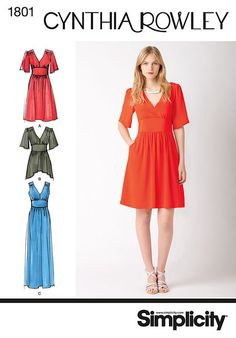 Dress pattern - Simplicity 1801