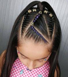 Girls Hairdos, Baby Girl Hairstyles, Down Hairstyles, Baby Hair Cut Style, Curly Hair Styles, Natural Hair Styles, Hair Fixing, Beautiful Braids, Rose Hair