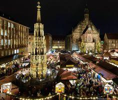 Nürnberger Christkindlesmarkt in Nürnberg, Bayern