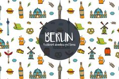 We publish Berlin Vector Free Pattern. This is a set of vector drawings associated with a beautiful German city. Free Vector Graphics, Vector Art, Pattern Design, Free Pattern, Website Design Layout, Icon Set, Traveling By Yourself, Berlin, Free Icon