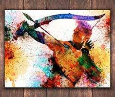 The Avengers Hawkeye Digital poster download Marvel Comic poster Hawkeye Avenger Watercolor poster download Wall Art DP-54