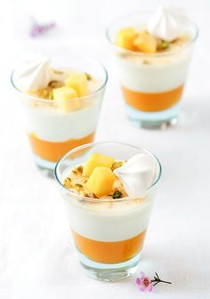 Mango & Vanilla Bean Buttermilk Panna Cottas by Tartelette