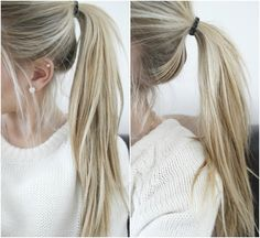 Ponytail and pearls | @madelineemiller