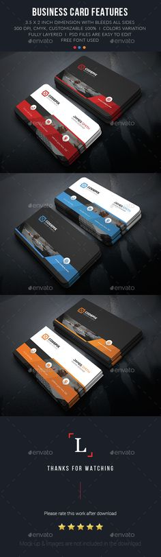 Creative Corporate Business Card Template PSD. Download here: http://graphicriver.net/item/creative-corporate-business-card/15204828?ref=ksioks