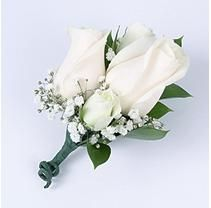 White Rose Wedding Collection - Corsage and Boutonniere Package pc. White Rose Boutonniere, White Boutonniere, Groom Boutonniere, Prom Corsage And Boutonniere, White Rose Bouquet, White Roses Wedding, Rose Wedding, Floral Wedding, Wedding Flowers