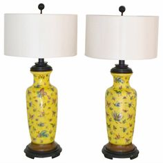 Pair of Ceramic Table Lamps | From a unique collection of antique and modern table lamps at https://www.1stdibs.com/furniture/lighting/table-lamps/