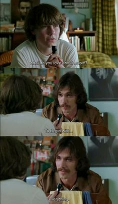 Love this scene from Almost Famous!