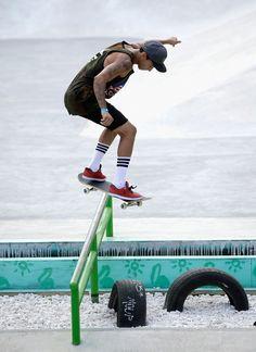 Nyjah Huston Photos: X Games Austin. Sheesh I love this guy!!! Not his socks though lol
