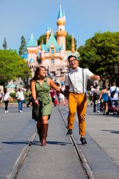 Disneyland engagement photo...this will SO happen!! Except at Disney World.