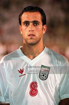 Sport Football Friendly International Doha Qatar 1st August 2001 Qatar 2 v Iran 1 Iran's Ali Karimi