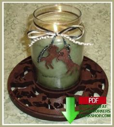 Horse candle tray