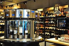 Weindiele - Winestore in Italy can preserve 16 wines and 4 Champagnes for 30-days thanks to the Enomatic Technology!
