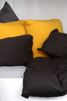 The Deep Charcoal is the perfect colour to deepen the tones of your bedroom without going all the way across the colour spectrum to black. Paired with our Marble or Marmalade scatter cushions makes for a striking combination!  Transitions beautifully between the seasons!#bedlinenredefined#tshirtbedding#tshirtbed#purecotton#romanicbedroom#bedroominspo #inspiration#interiordecorating#interiorinspiration#cozy#warminsummer#coolinwinter#ethicalbedding #ethicallymade#zeromicrofiber#noncrease#noniron Scatter Cushions, Marmalade, Bedroom Inspiration, Duvet Cover Sets, Linen Bedding, Spectrum, Living Spaces, Charcoal, Interior Decorating