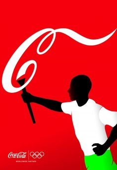 Athletes, Torch Bearer - Coca-cola Print Ad