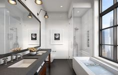Like the flooring, narrow shower & tub
