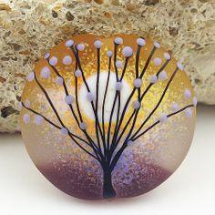 Pikalda  Handmade lampwork 1 single bead glass aura by veradacraft, $18.00