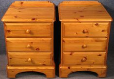 Pair Of Ducal Pine 3 Drawer Bedside Chests