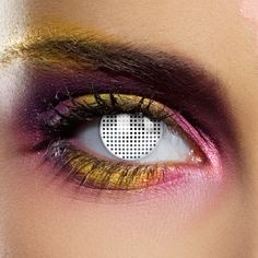 Share CoolGlow with you Friends and Receive 5% on your order.  Novelty Contact Lenses - White Mesh - Glow Sticks, Glow Necklaces, Glow Bracelets, Wholesale Cheap Glow Sticks #http://pinterest.com/coolglow/
