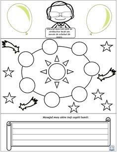 Ziua Copilului -Lapbook 1 Iunie pentru băieți Symbols, Letters, Education, Cots, Icons, Letter, Teaching, Onderwijs, Fonts
