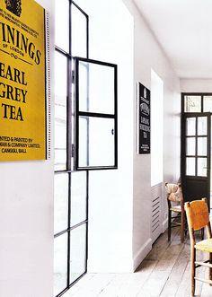 white + gold tea poster