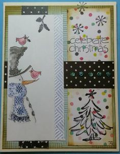 Making a Watercolor Stamped Snowman and a photo gallery of Christmas c – Tamm's Marketplace