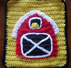 If I make another tractor afghan I should add a barn.
