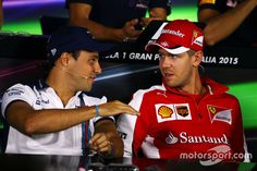 """Massa:""""Tell all the guys I said Hello! Vettel: """"I will, what did you say your name was again?"""""""