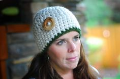 READY TO SHIP Women's Chunky Cream Color Beanie by BeehiveCreation, $28.00