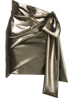 asymmetric draped mini skirt