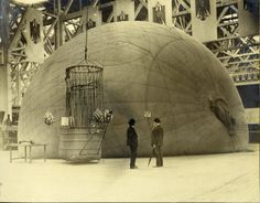 Balloon in the German Section of the Transportation Building at the 1904 World's Fair. ©Missouri History Museum