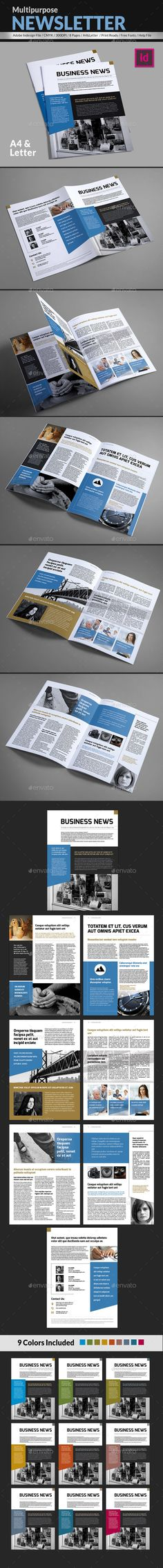 Pages Newsletter Design Template V  Newsletter Templates And