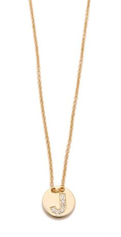 alphabet coin necklace / gorjana