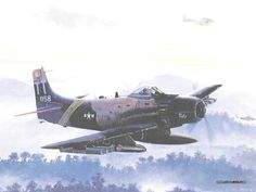 A1 SKYRAIDER from 602D Special Operation Squadron