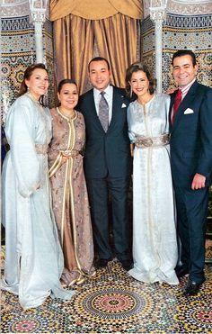 Royal family: King Mohamed IV,  moulay Rachid, lalla Asma,  lalla Hasna & lalla Maryam
