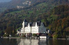 Lago de Lucerna (Suiza).- Cathedral, Mansions, House Styles, Building, Travel, Home, Decor, Switzerland, Viajes