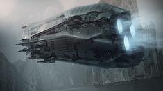 Titanfall ship concept by Steve Burg