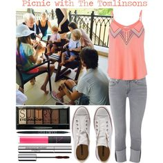 Picnic with The Tomlinson Family!! by forever-mrsstyles on Polyvore featuring polyvore, fashion, style, maurices, Hudson, Converse, Sisley, PurMinerals, Boohoo and NARS Cosmetics