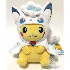 Pokemon Center Sapporo 2017 Renewal Opening Campaign #2 Poncho Pikachu Alola Vulpix Plush Toy Pokemon Dolls, Pokemon Plush, Cool Pokemon, Pokemon Go, Pikachu, Alolan Vulpix, Sapporo, Baby Development, Cute Baby Animals