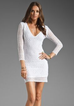 BEC Bianco V Dress in White at Revolve Clothing - Free Shipping!