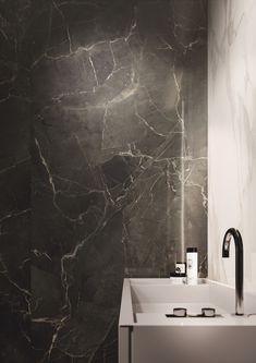 Purity of Marble by Supergres Washroom Tiles, Bathroom Wall, Wall Tiles, Marble Floor, Marble Slabs, Bathroom Interior Design, Interior Decorating, Floor Design, House Design