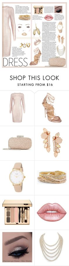 """""""Winter Dress Under $100"""" by natsucool ❤ liked on Polyvore featuring Boohoo, Dsquared2, Oscar de la Renta, Kendra Scott, Kate Spade, Torrid, Lime Crime, Whiteley, DaVonna and Anne Sisteron"""